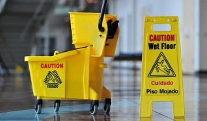 Janitorial services being performed in Fresno, CA